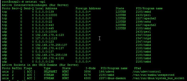 netstat - linux - prozesse